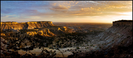 Lybrook Badlands Sunset Panorama