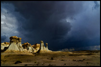 New Mexico Badlands Passing Storm