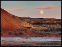 bisti sunset and moon