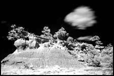 Infrared Photo -San Jose Badlands