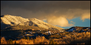 Snowy Tesuque Foothills